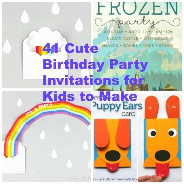 Homemade Birthday Invitations 41 Printable Party Cards For Kids