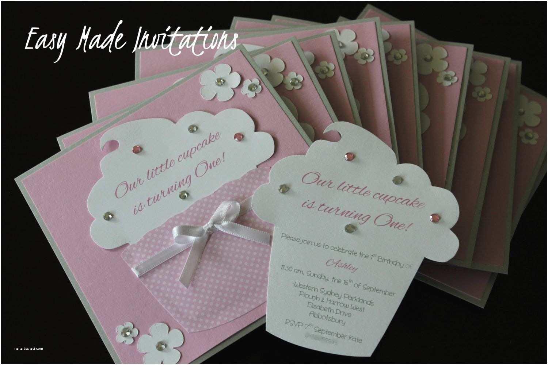 Homemade Birthday Invitations Cupcake Handmade Invitations Card Ideas