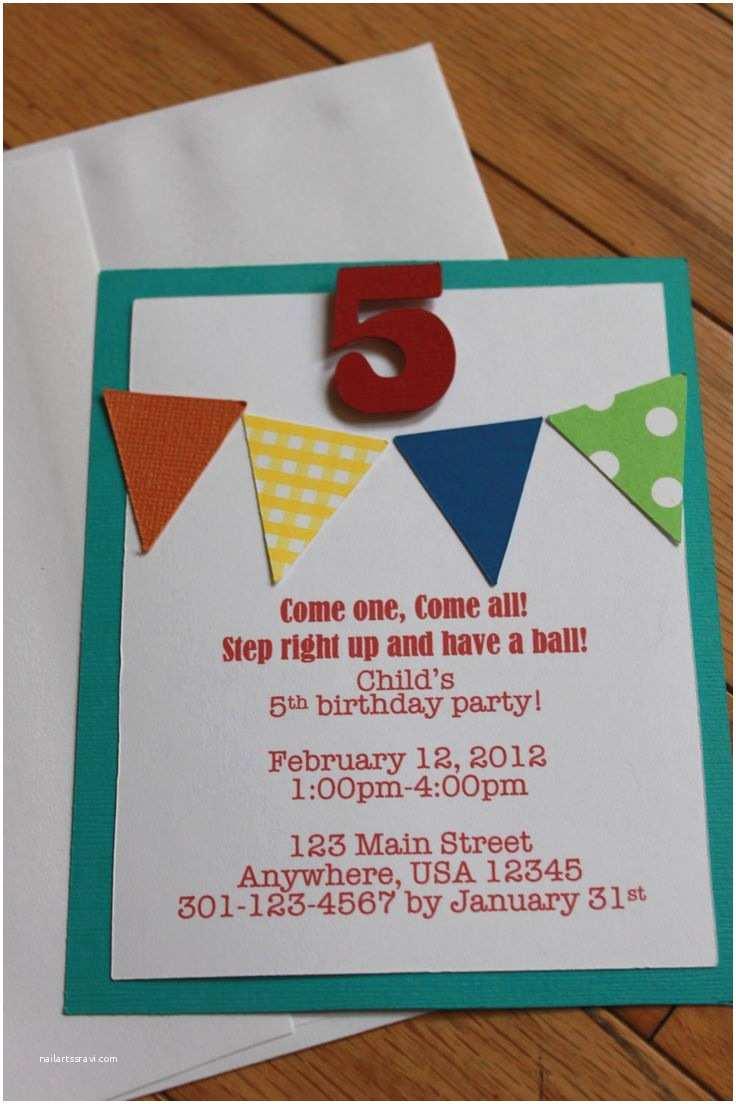 Homemade Birthday Invitations Homemade Birthday Invitation Templates
