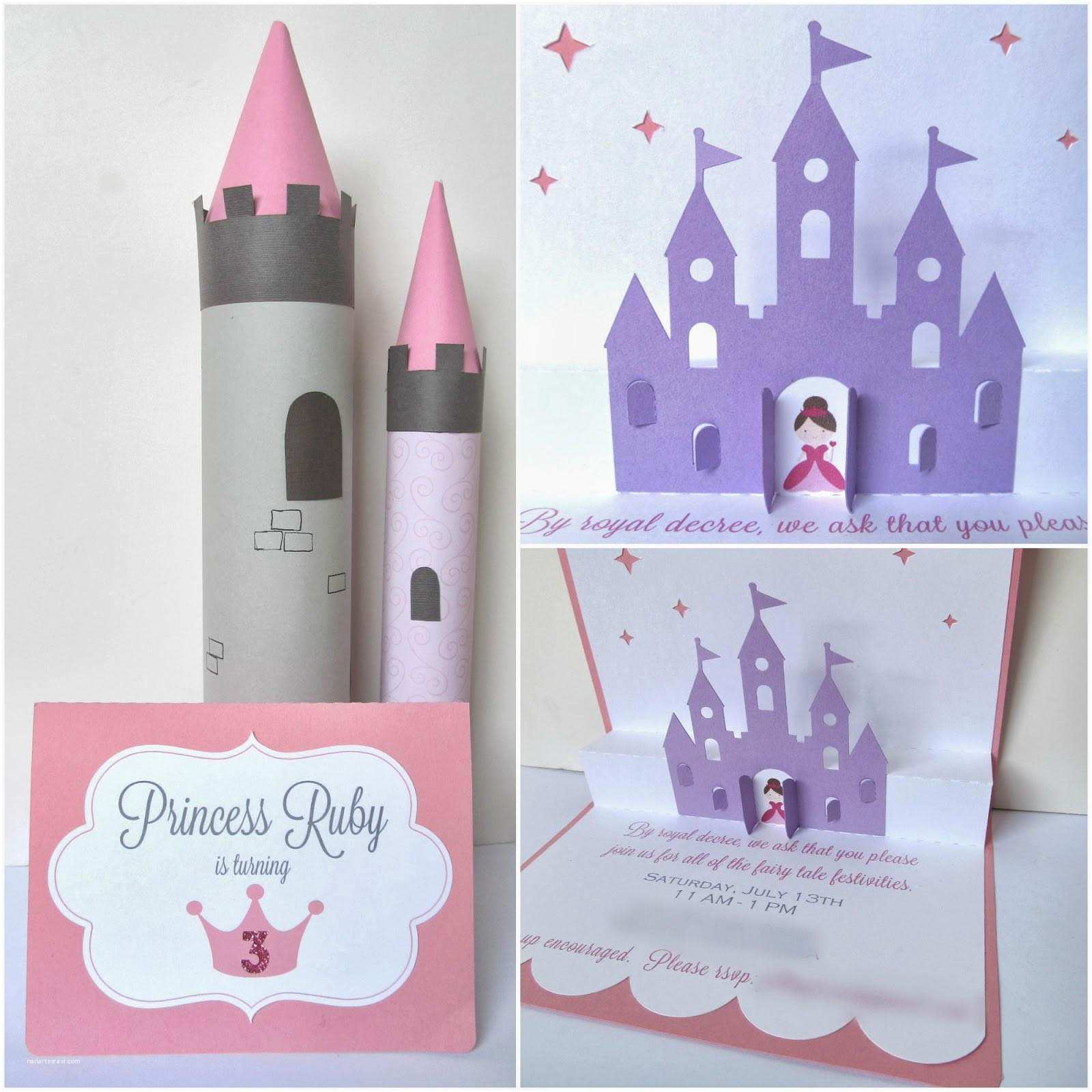 Homemade Birthday Invitations Homemade Princess Party Invitations