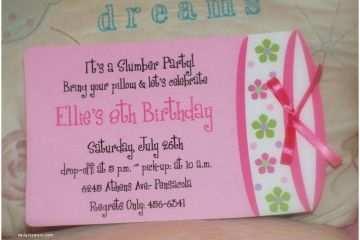 Homemade Birthday Invitations Slumber Party Invitation Ideas