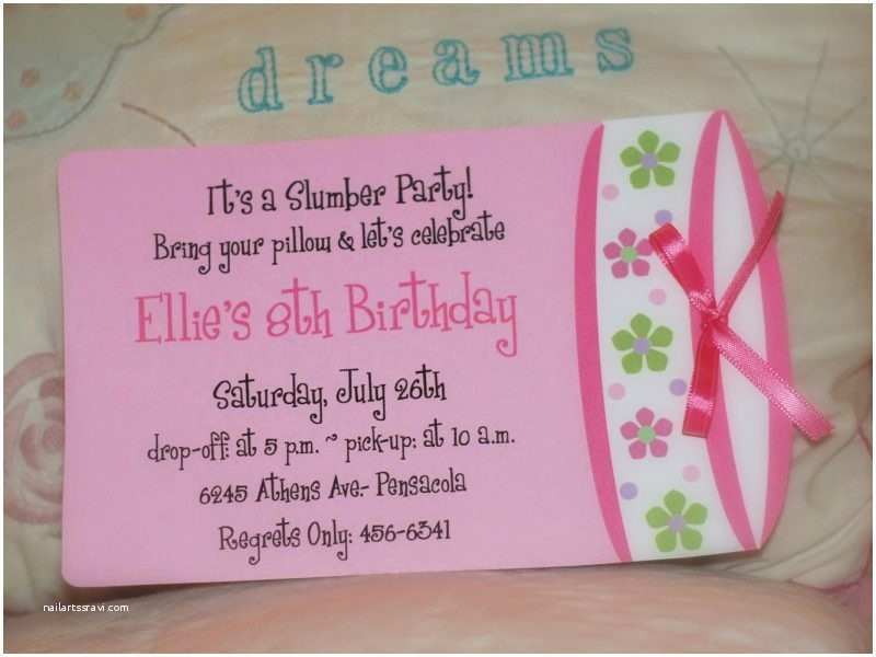 Homemade Birthday Invitations Slumber Party Invitation Ideas Cobypic