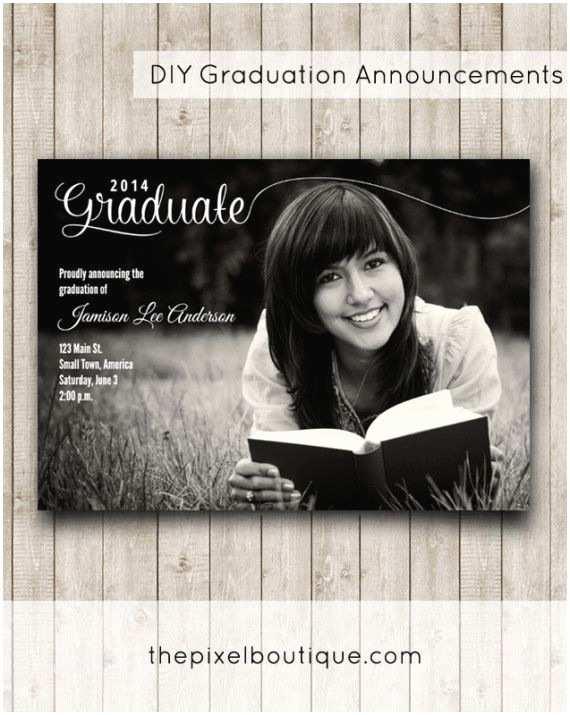 Homemade Graduation Invitations Diy Graduation Announcements Make This Design for Free