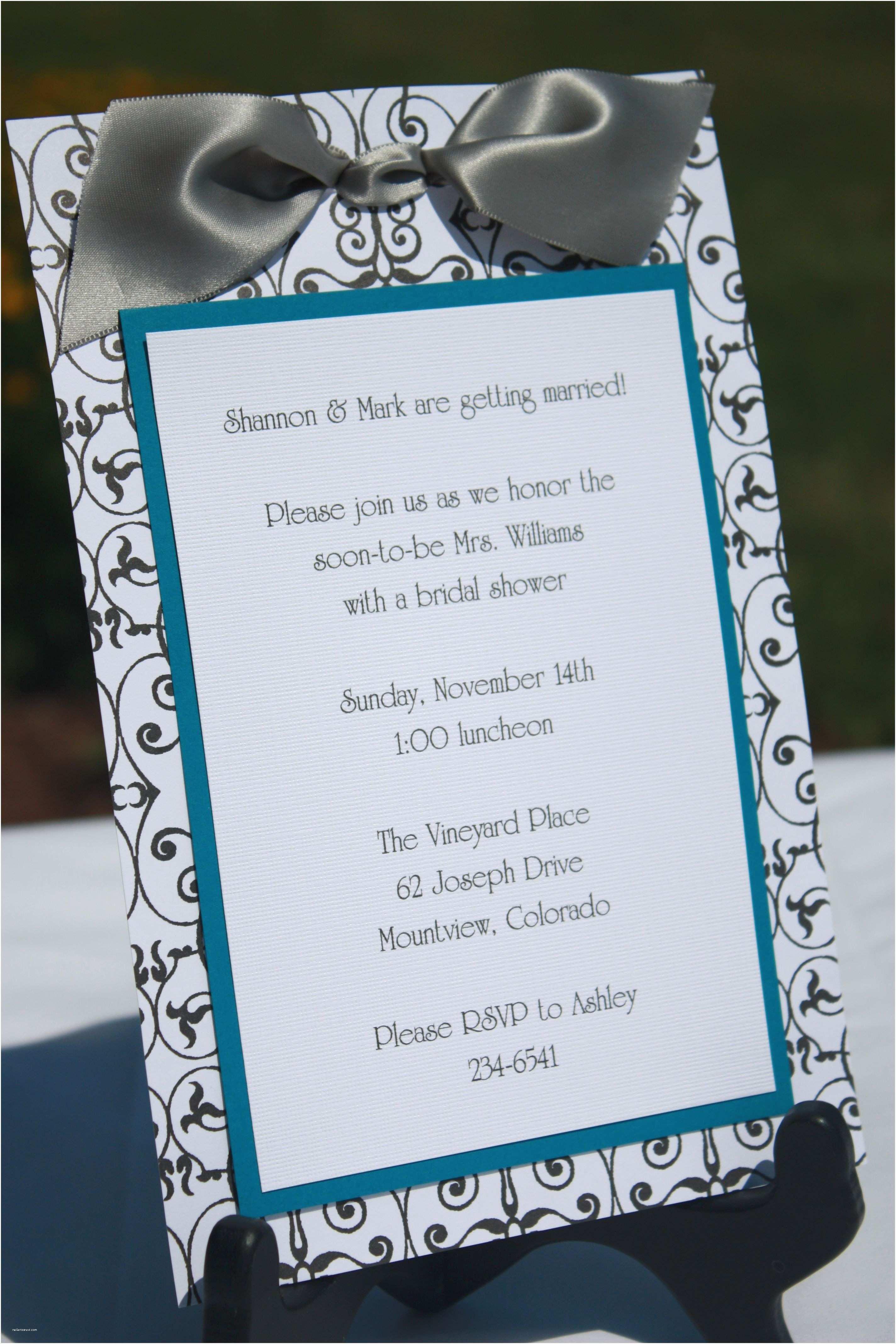 Homemade Wedding Invitation Ideas Handmade Bridal Shower Invitations