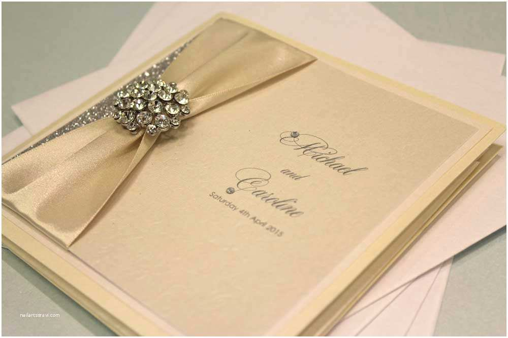 Homemade Wedding Invitations Caroline and Michael Handmade Wedding Invitations