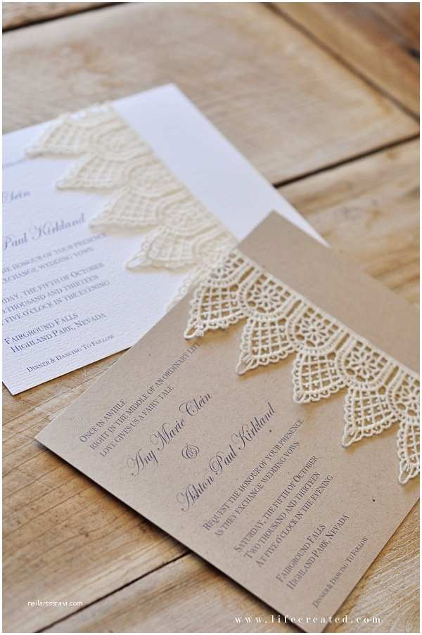 Homemade Wedding Invitations Craftaholics Anonymous