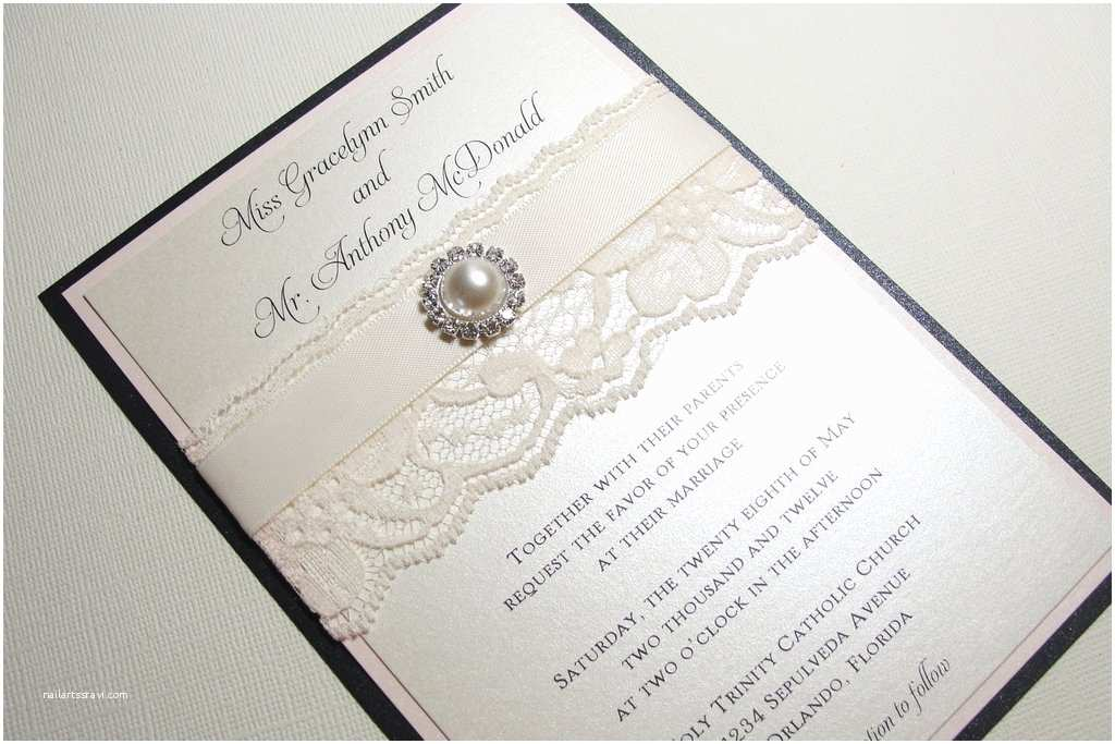 Homemade Wedding Invitations Pearl Wedding Accessories Handmade Etsy Wedding Finds