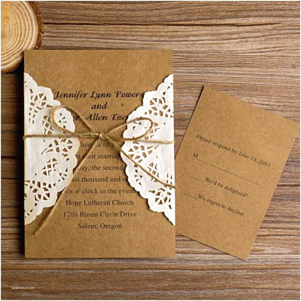 Homemade Wedding Invitations Rustic Wedding Invitations Templates
