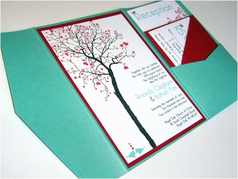 Homemade Wedding Invitations Wedding Invitation Diy Pocketfold Heart Tree Printable