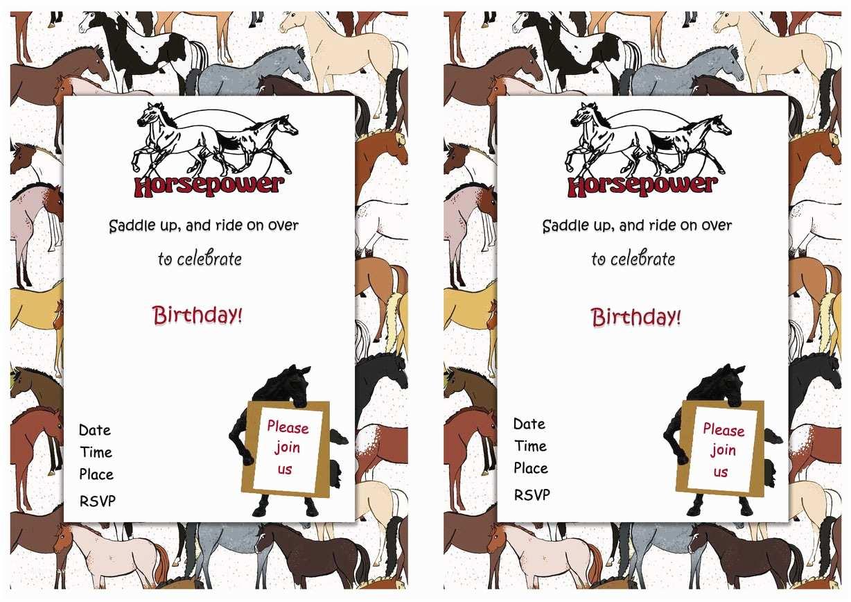 Horse Birthday Invitations Horse Birthday Invitations – Birthday Printable