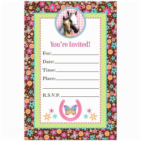 Horse Birthday Invitations Horse Birthday Invitations – Gangcraft