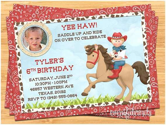 Horse Birthday Invitations Horse Birthday Party Invitations