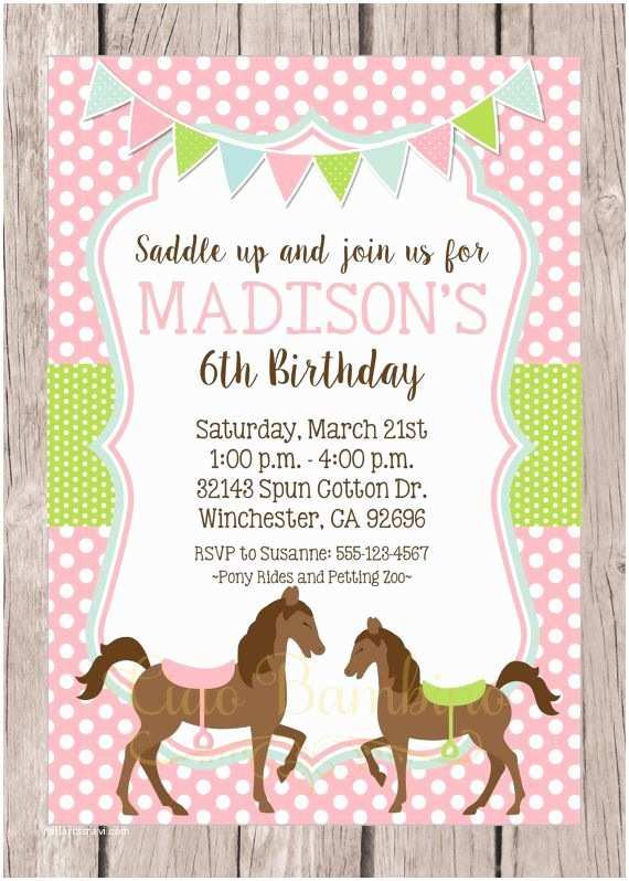Horse Birthday Party Invitations 17 Best Ideas About Horse Birthday Parties On Pinterest