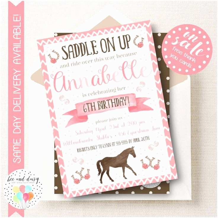Horse Birthday Party Invitations 17 Best Images About Horse theme Party On Pinterest