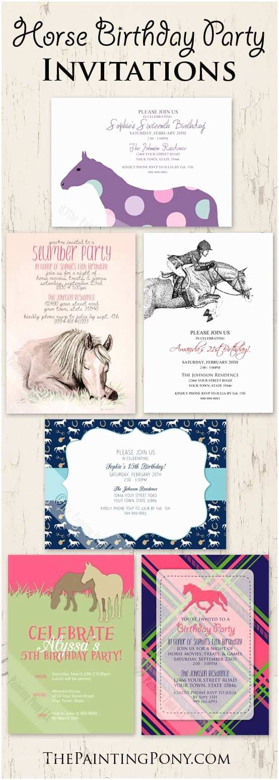 Horse Birthday Party Invitations Best 25 Horse Birthday Parties Ideas On Pinterest