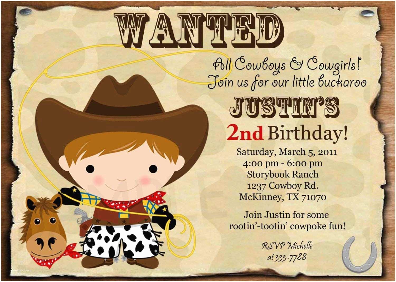 Horse Birthday Party Invitations Free  Horse Birthday Invitations