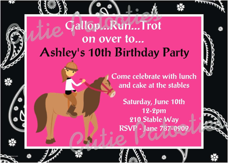 Horse Birthday Party Invitations Horse Birthday Invitation Horse Birthday by