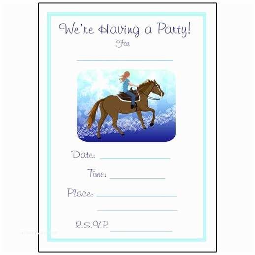 Horse Birthday Party Invitations Horse Dreams Fill In the Blank Birthday Party Invitations