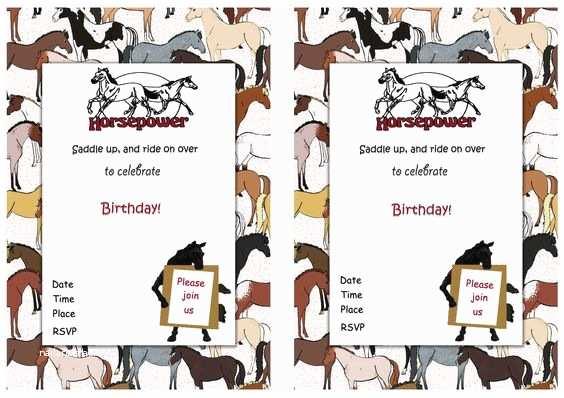 Horse Birthday Party  Horse Free Printable Birthday Party