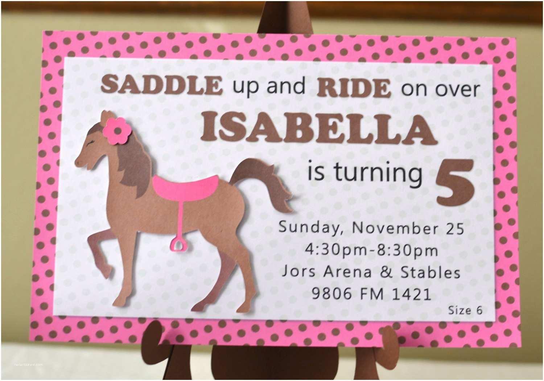 Horse Birthday Party Invitations Pony Birthday Invitations Horse Birthday By