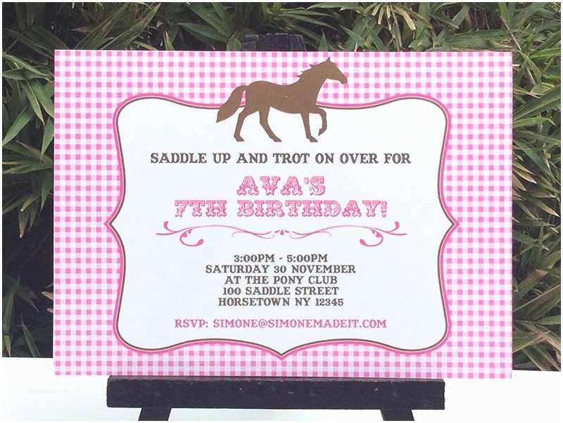 Horse Birthday Party Invitations Printable Pony Party Invitation – orderecigsjuicefo