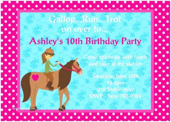 Horse Party Invitations 4 Fancy Free Printable Horse Birthday Party Invitations