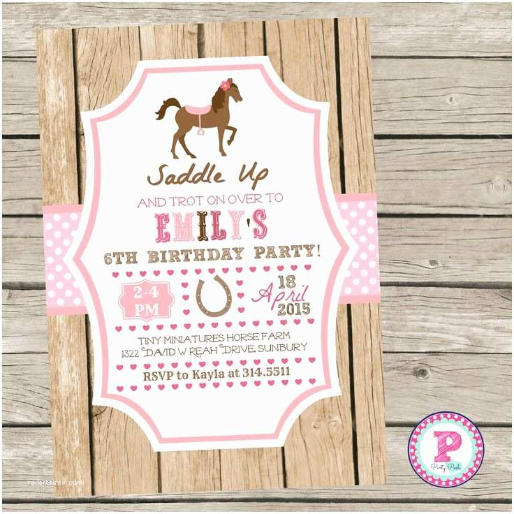 Horse Party Invitations Best 25 Horse Birthday Parties Ideas On Pinterest