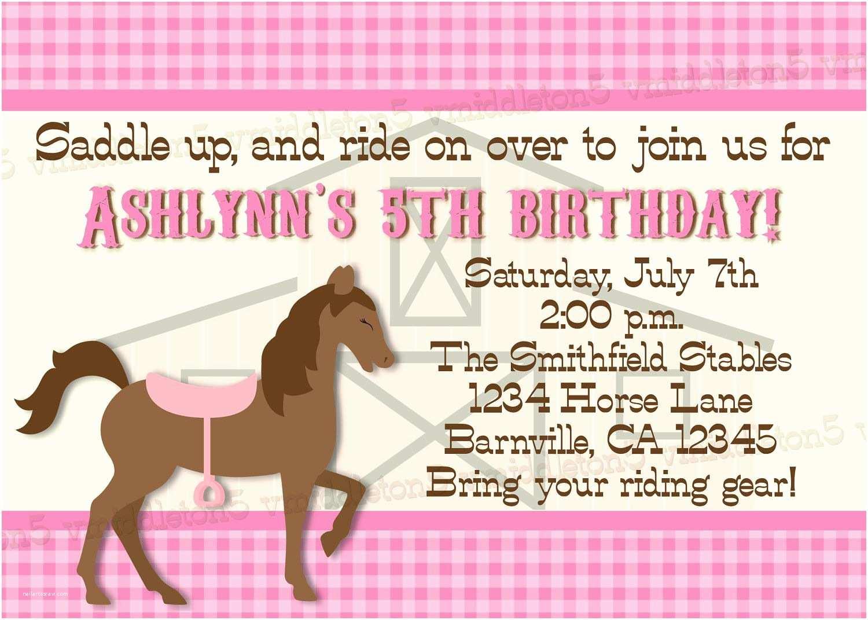 Horse Party Invitations Birthday Invitations Free Printable Horse Birthday
