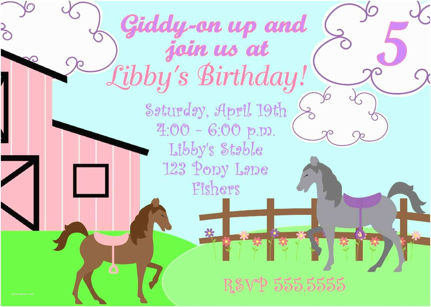 Horse Party Invitations Free Printable Horse Party Invites