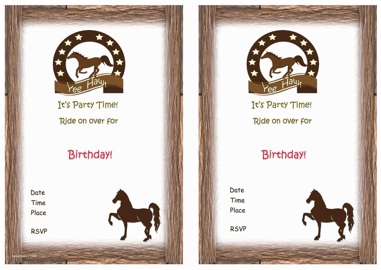 Horse Party Invitations Horse Birthday Invitations – Birthday Printable