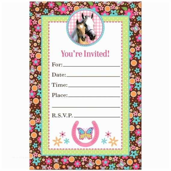 Horse Party Invitations Horse Birthday Invitations – Gangcraft