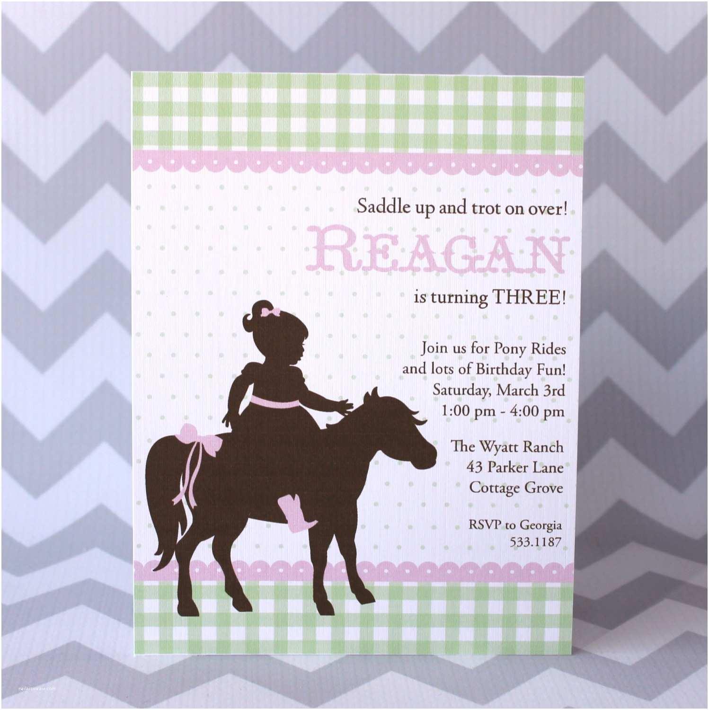 Horse Party Invitations Pony Party Birthday Invitation