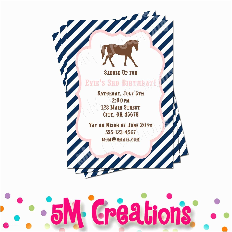 Horse Party Invitations Pony Party Invitation Horse Birthday Invitations Cowgirl