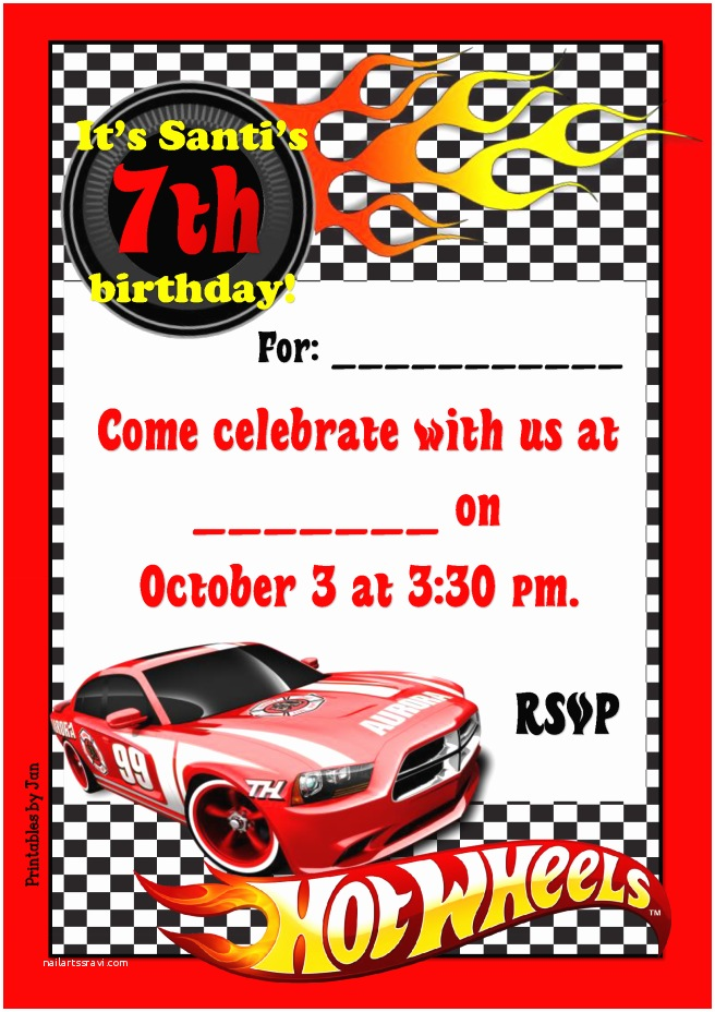 Hot Wheels Party Invitations attractive Hot Wheels Party Invitations Invitation