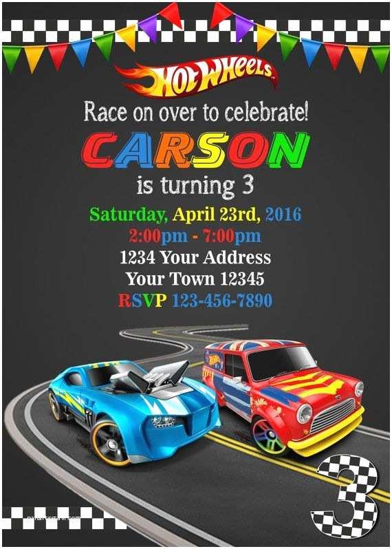 Hot Wheels Party Invitations Birthday Invitation Templates Hot Wheels Birthday