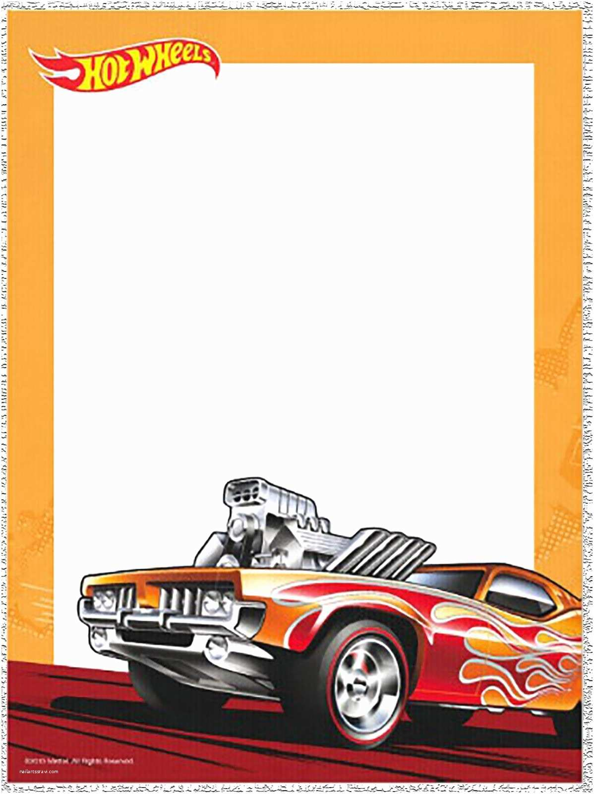 Hot Wheels Party Invitations Free Printable Hot Wheels Invitation Templates for Download