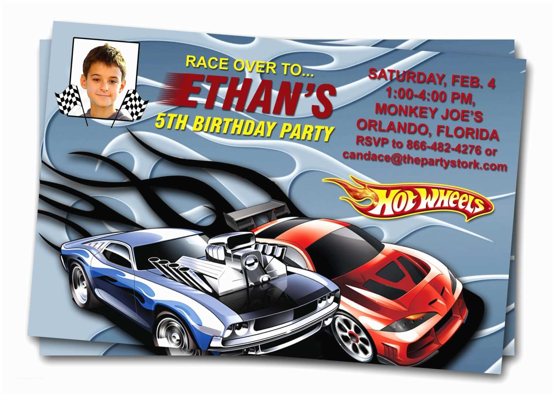 Hot Wheels Party Invitations Hot Wheels Birthday Invitations – Bagvania Free Printable