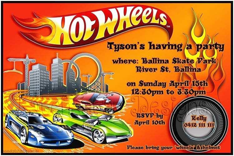 Hot Wheels Party Invitations Hot Wheels Birthday Invitations – Gangcraft