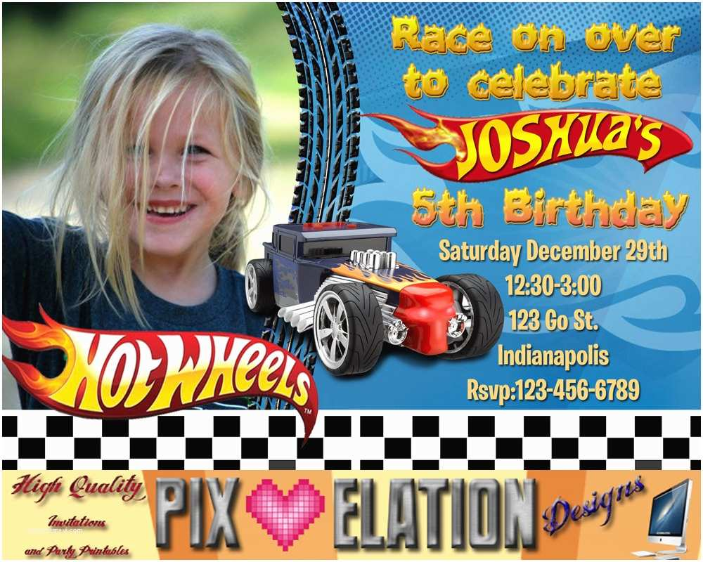 Hot Wheels Party Invitations Hot Wheels Birthday Invitations Hot Wheels Birthday