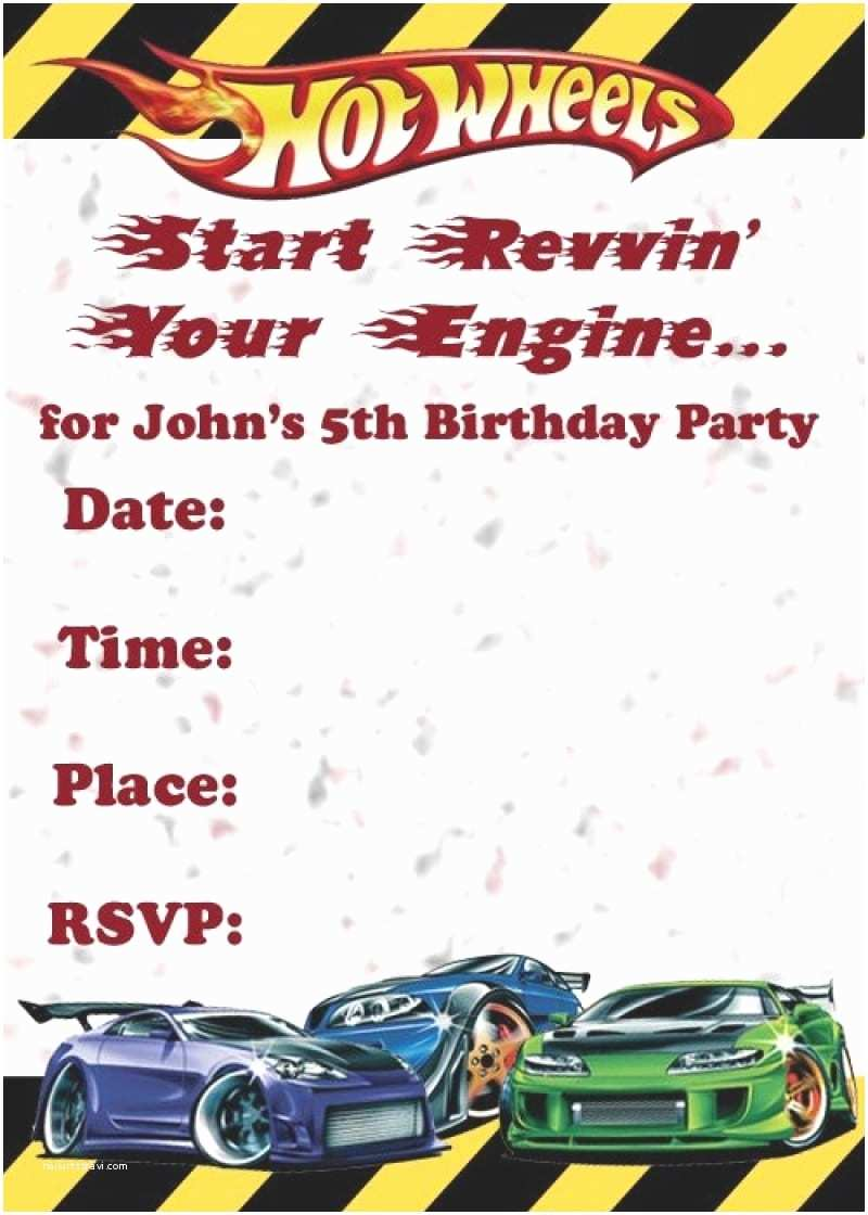 Hot Wheels Party Invitations Hot Wheels Birthday Party Invitations Mickey Mouse