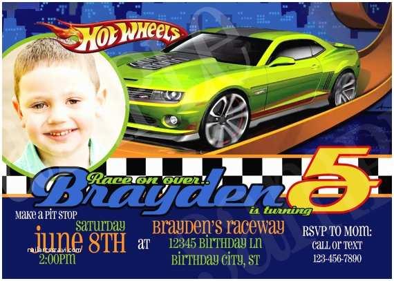 Hot Wheels Party Invitations Hot Wheels Birthday Party Invitations