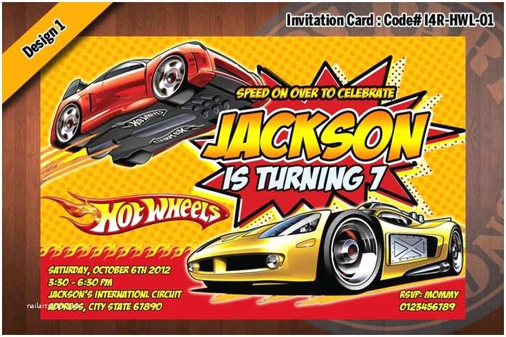 Hot Wheels Party Invitations Hot Wheels Birthday Party Invitations