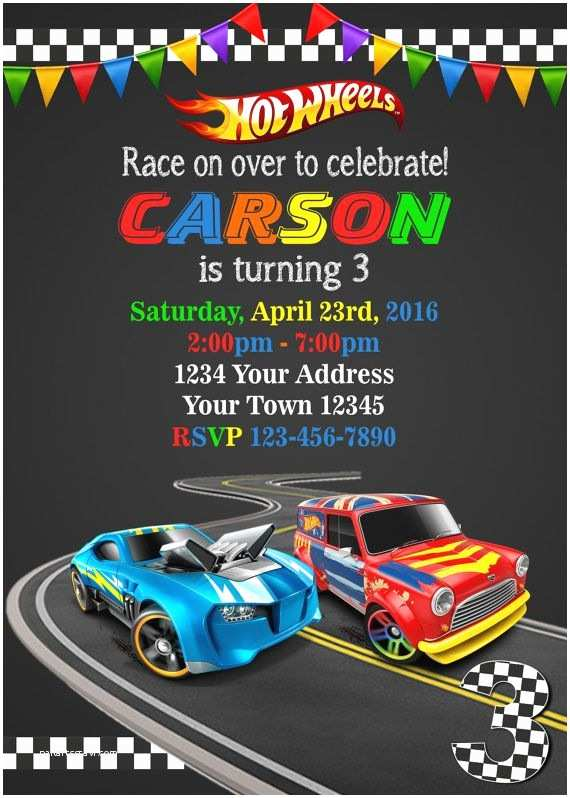 Hot Wheels Party Invitations Hot Wheels Invitation Cars Invitation Hot by
