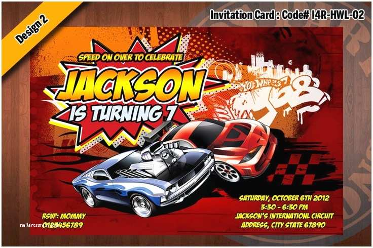 Hot Wheels Party Invitations Hot Wheels Invitation Hot Wheels Birthday Party