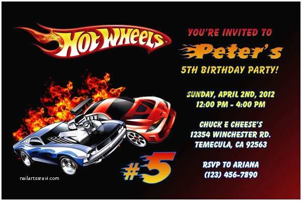 Hot Wheels Party Invitations Hot Wheels Invitations
