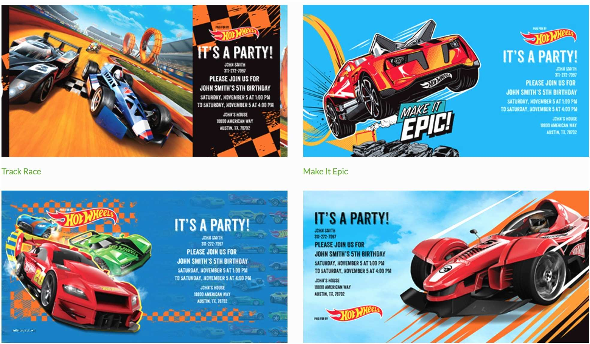 Hot Wheels Party Invitations Hot Wheels Party Invitations Nest Of Posies