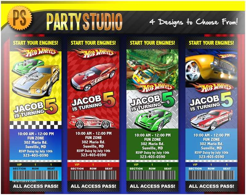 Hot Wheels Party Invitations Hot Wheels Party Invitations