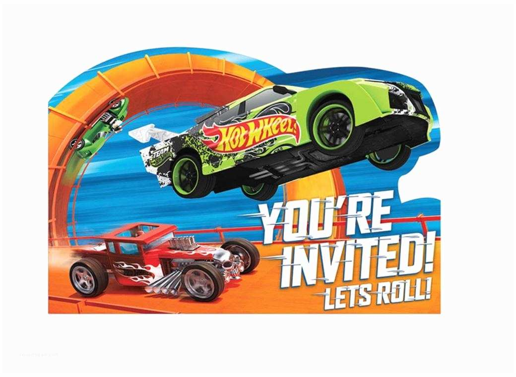 Hot Wheels Party Invitations Hot Wheels Party Invites 8pk