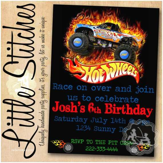 Hot Wheels Party Invitations Items Similar to Hot Wheels Birthday Invitation On Etsy