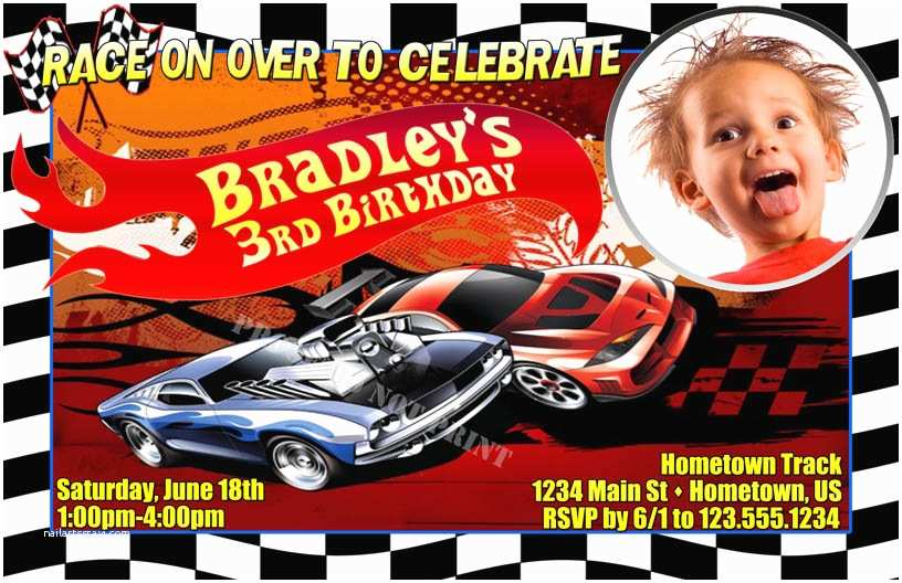 Hot Wheels Party Invitations Personalized Invitations